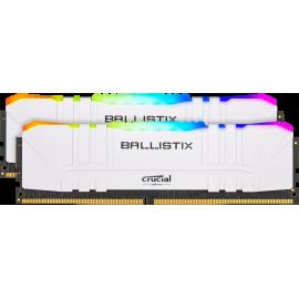 Mémoire gamer pour PC de bureau (Blanc) - Crucial Ballistix RGB - Kit 16Go (2x8Go) - BL2K8G32C16U4WL