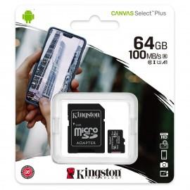 Carte mémoire Micro SDXC UHS-I U1 Classe 10 A1 Classe V10 64 Go + Adaptateur SD - SDCS2/64GB