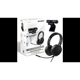 WEBCAM AVERMEDIA PACK Télé Travail Webcam PW317 + Casque Micro AH313 - BO317