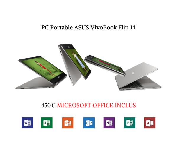 ASUS VivoBook Flip 14 + OFFICE PRO PLUS 2019