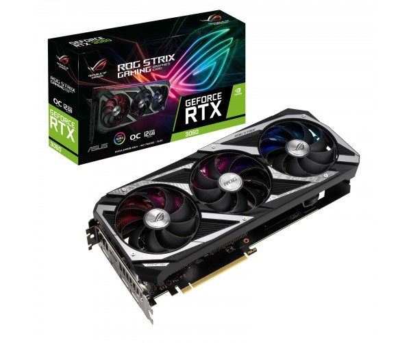 Carte Graphique NVIDIA GeForce RTX 3060 - référence : ROG-STRIX-RTX3060-O12G-GAMING