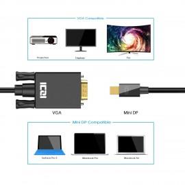 Câble Mini DP vers VGA, Adaptateur Mini DisplayPort (Thunderbolt) vers VGA