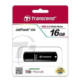 CLE USB TRANSCEND JetFlash 350  16 Go USB 2.0 noir